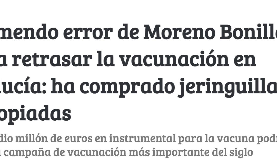 No, la Junta de Andalucía no ha comprado jeringuillas equivocadas