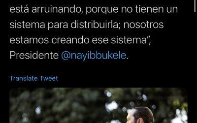 Bulos reproducidos por el presidente de El Salvador