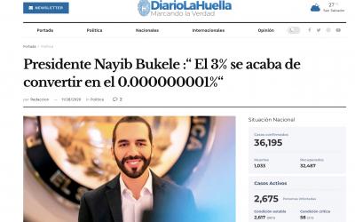 Nayib Bukele y el bulo del 3%